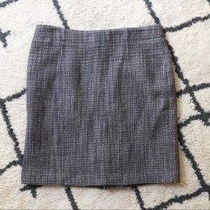 Banana Republic gray wool mini pencil skirt